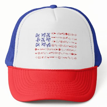 American flag tattoo funny pizza trucker hat