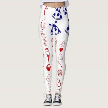 American flag tattoo stick and poke leggings