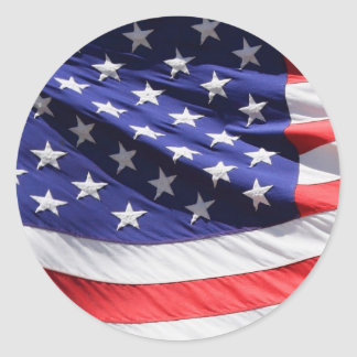 American-flag-Template Classic Round Sticker