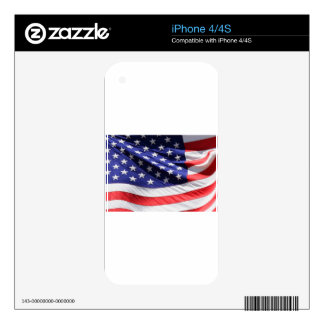 American-flag-Template iPhone 4S Decal