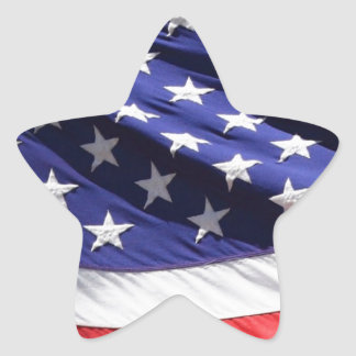 American-flag-Template Star Sticker