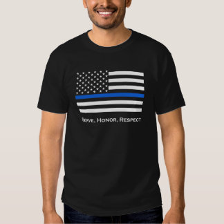 American Flag Thin Blue Line T Shirt