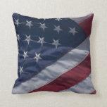 American flag. throw pillow