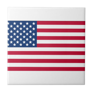 American Flag Small Square Tile