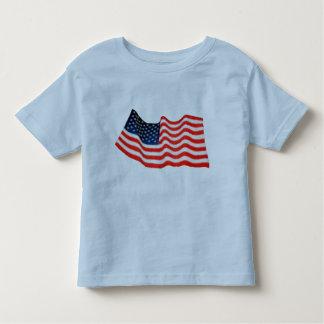 American Flag Toddler Ringer T-Shirt