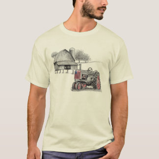 AMERICAN FLAG TRACTOR T-Shirt