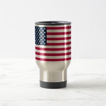 USA Themed American Flag Travel/Commuter Mug