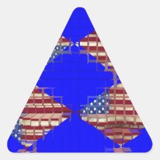 american flag triangle sticker