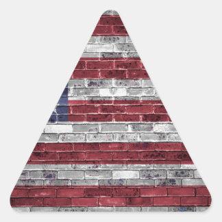 American flag. triangle sticker