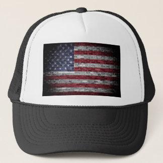 American flag. trucker hat