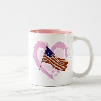 American Flag Two-Tone Coffee Mug
