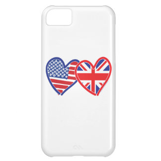 American Flag Union Jack Flag Hearts iPhone 5C Cover
