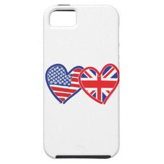 American Flag Union Jack Flag Hearts iPhone SE/5/5s Case