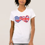 American Flag/Union Jack Flag Hearts Shirt