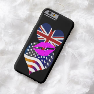 American Flag Union Jack Flag Stars Stripes Kiss Barely There iPhone 6 Case