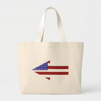 American Flag - Unique Shapes Jumbo Tote Bag