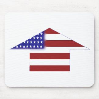 American Flag - unique shapes Mouse Pad