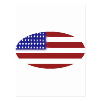 American Flag - Unique Shapes Postcard