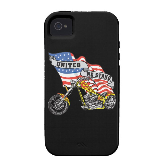 American Flag United Stand Motorcycle iPhone4 Case