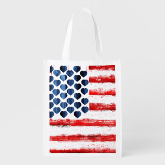 american flag,united states flag grocery bag