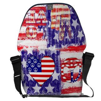 american flag,united states flag messenger bag