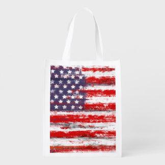 american flag,united states flag reusable grocery bag