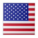 American Flag United States of America Fourth July Ceramic Tile