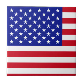 American Flag United States of America Fourth July Small Square Tile