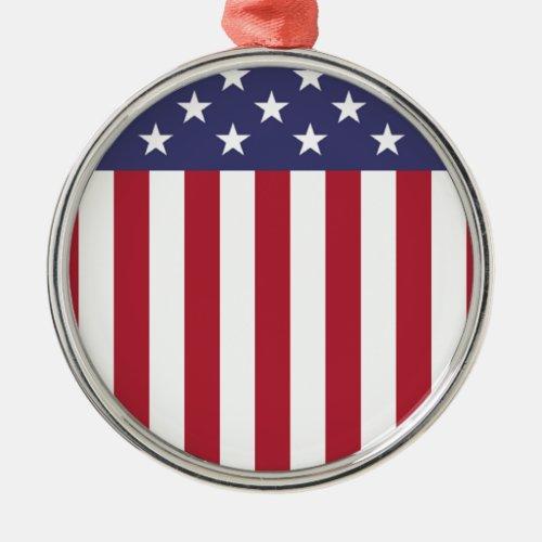 American Flag - United States of America Metal Ornament