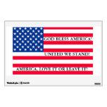 AMERICAN FLAG UNITED WE STAND IN GOD WE TRUST WALL SKINS