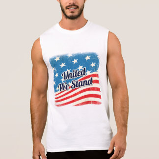 American Flag United We Stand Sleeveless Shirt