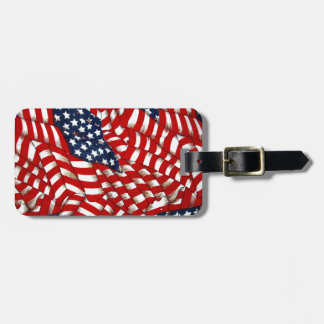 American Flag-Unity & Love_ Luggage Tag