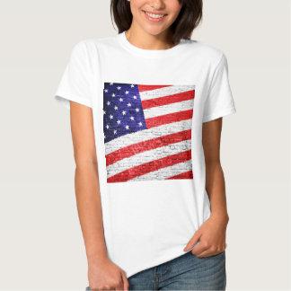 American Flag Urban Art T Shirt
