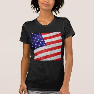American Flag Urban Art Tee Shirt