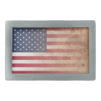 American Flag, US grunge patriotism (USA) Belt Buckle