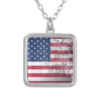 American Flag, US grunge patriotism (USA) Custom Jewelry
