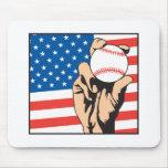 american flag USA baseball Mouse Pad