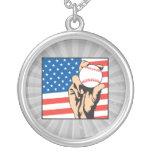 american flag USA baseball Pendants