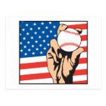american flag USA baseball Postcard