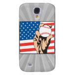 american flag USA baseball Samsung Galaxy S4 Cover