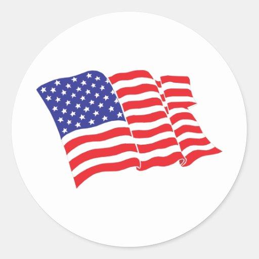 American flag usa classic round sticker zazzle for American classic usa