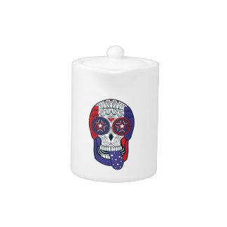American Flag USA Colors Patriotic Sugar Skull