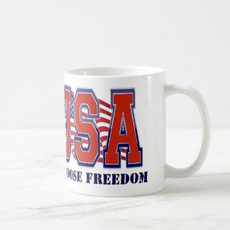 American Flag USA Freedom Patriotic Classic White Coffee Mug
