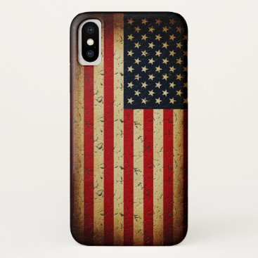 American Flag USA Grunge iPhone XS Case