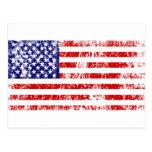 American Flag USA Grunge Postcards