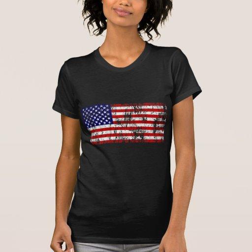 American Flag USA Grunge Shirt