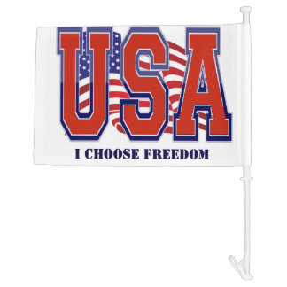 American Flag USA I Choose Freedom Patriotic Car Flag