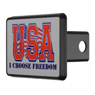 American Flag USA I Choose Freedom Patriotic Hitch Cover
