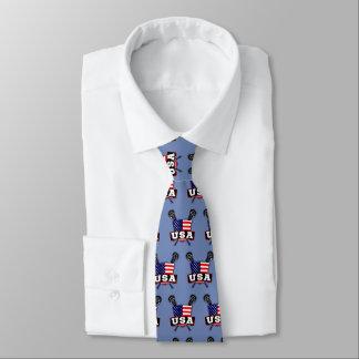 American Flag USA Lacrosse Tie
