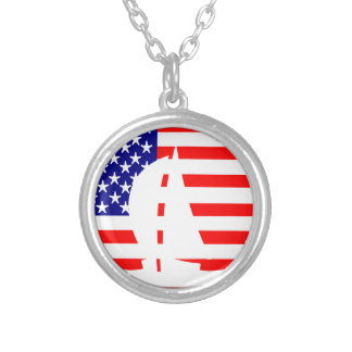 American Flag USA Nautical Sailing Yacht Necklaces